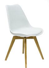 Olbia - Stuhl - Weiß/ Eiche