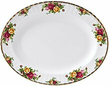 Old Country Roses Ovale Servierplatte, klein gold