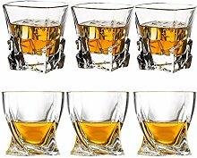 Old Fashioned Whiskey Gläser, 6 Stück,
