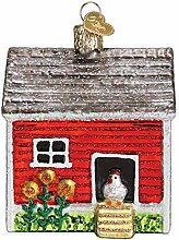 Old-World Christmas Geblasenes Glas mit S-Haken