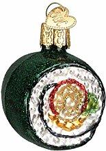 Old World Christmas Ornamente: Sushi Roll Glas