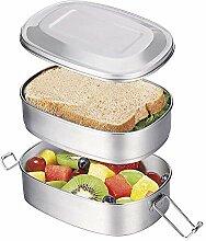 OldPAPA Edelstahl Lunchbox/Brotdose im Bento Box