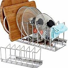OldPAPA Geschirrablage für Kochtöpfe, Deckel und