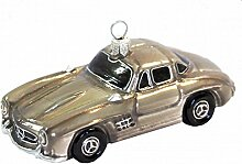 Oldtimer Auto Hellgrau Christbaumschmuck Baumschmuck Weihnachten Geschenk Deko Mann