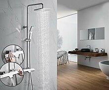 OLEAH Thermostat Duschsystem Chrom Duschpaneel