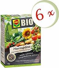 Oleanderhof® Sparset: 6 x COMPO BIO Hornspäne, 1