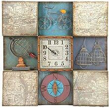 OLILEIO American Country Vintage Uhr Industrial