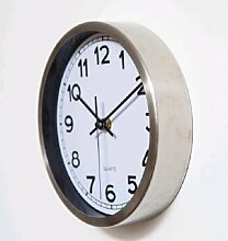 OLILEIOKreative Clock 8 Zoll Uhr Heimtextilien Exquisite dekorative Uhr Schwarz Weiß 12 Zoll Stanzprozess, Weiß