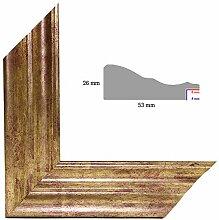 OLIMP-22 Bilderrahmen 60x90 cm Echtholz Barock in