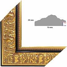 OLIMP-25 Bilderrahmen 100x70 cm Echtholz Barock in