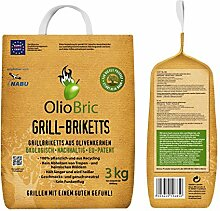 OlioBric Grill-Briketts aus Oliventrester 1x 3 kg