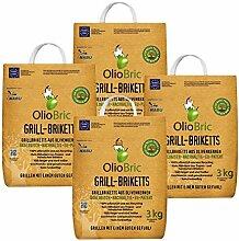OlioBric Grill-Briketts aus Oliventrester 4X 3 kg