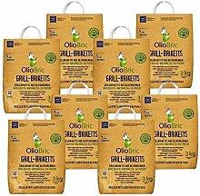 OlioBric Grill-Briketts aus Oliventrester 8X 3 kg
