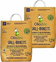 OlioBric Grillbriketts aus Olivenkernen, 6kg ✓