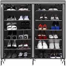 Oliote 6 Ebenen Schuhregal für 36 Paar Schuhe