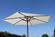 Olive Grove Garten-Sonnenschirm, Breite 2,5m, in Creme