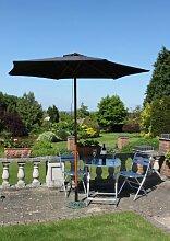Olive Grove Garten-Sonnenschirm, Breite 2,5m, in Schwarz