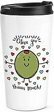 Olive You This viel Reise Becher Tasse