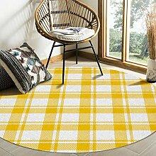 Olivefox Teppich, rund, klassisch, schottisches