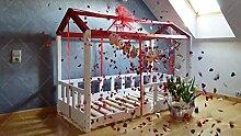 Oliveo Hausebett, Kinderhaus Bett für Kinder,