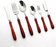 Olprkgdg Holzgriff 304 Edelstahl Steak Messer und