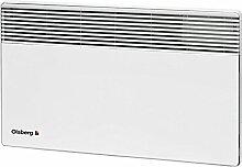 Olsberg Corona Heizgerät Wandkonvektor Elektroheizung Heizkörper spritzwassergeschützt Radiator, 500W