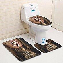 Olydmsky Bemalte Badezimmer dreiteilige Set Boden