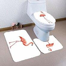 Olydmsky Dreiteilige Teppich Bad WC Deckel