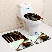 Olydmsky Klavier Toilette dreiteilige Set Boden