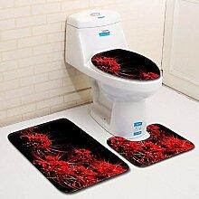 Olydmsky Sanitär WC dreiteilige Set Boden Matte