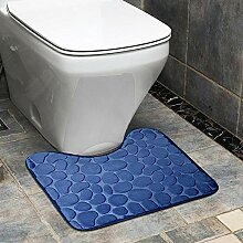 Olydmsky Stein Muster U-Art Toilette Mat Bad