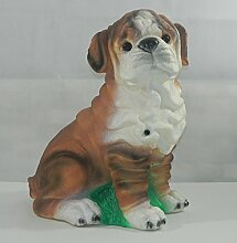 OM Deko Figur Tierfigur Hund Mops groß Höhe 39