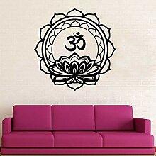 OM Mandala Design Aufkleber Blumendekor für