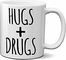 OM3® - HUGS-&-Drugs - Tasse | Keramik Becher |