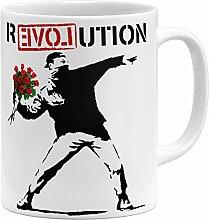 OM3® Banksy Love Revolution Tasse | Keramik