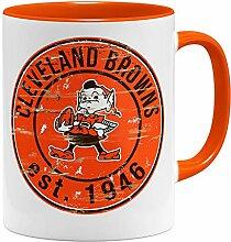 OM3® Cleveland Badge Tasse | Keramik Becher |
