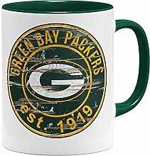 OM3® Green Bay Badge Tasse | Keramik Becher |