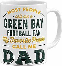 OM3® Green-Bay-Fan Tasse | Keramik Becher |