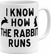 OM3® I Know How The Rabbit Runs - Tasse Denglisch