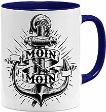 OM3® Moin Moin Anker Tasse | Keramik Becher |