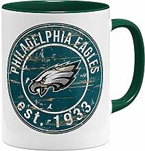 OM3® Philadelphia Badge Tasse | Keramik Becher |