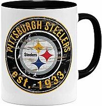OM3® Pittsburgh Badge Tasse | Keramik Becher |