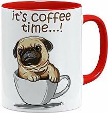 OM3® Pug It's Coffee Time Mops Tasse |