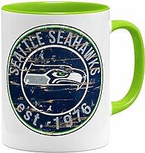 OM3® Seattle Badge Tasse | Keramik Becher | 11oz
