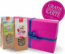 Oma Geschenk * Geschenkbox mit Früchte Tee + Kräutertee + GRATIS Glückwunschkarte * Oma Geschenk Set – Oma Geschenkidee - Oma Weihnachtsgeschenk – Geschenk für Oma – Oma Geburtstagsgeschenk von MyOma