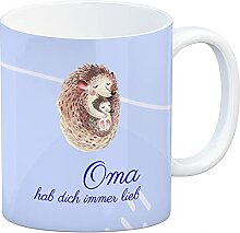 Oma hab Dich Immer lieb Kaffeebecher mit
