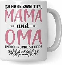 Oma Tasse Geschenk, Großmutter Spruch Becher