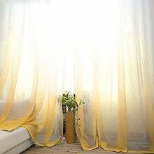 Ombre transparente Vorhänge 160 cm Länge