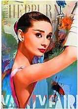OMCCXO 5D DIY Diamant Malerei Kits Audrey Hepburn