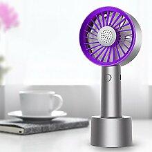 OME&QIUMEI Usb-Handheld Kleinen Ventilator Wiederaufladbare Student Hand Pocket Electric Fan Mute Tragbaren 19,7 * 8,5 * 6 Cm